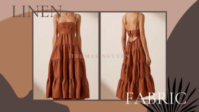 Linen – chất liệu vải may váy mùa hè trẻ trung, thoáng mát